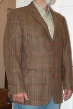 Authentique Burberry London Tweed Wool Blazer Jacket Barrie-S Taille 56