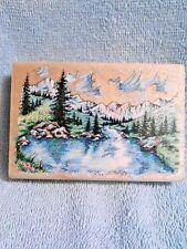 Stampendous Majestic Lake Stamp
