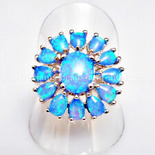 Echte Edelstein-Ringe im Cluster-Stil mit Opal und Cabochon für Damen