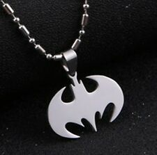 DC BATMAN Logo Boy Child Fashion Stainless Steel Chain Necklaces & Pendant Charm