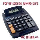 EXTRA LARGE POPUP Display Jumbo Desktop Calculator Big Button School Office Desk