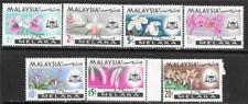 MALAYSIA MELAKA 1965 FLOWERS ORCHIDS SC # 67-73 MNH