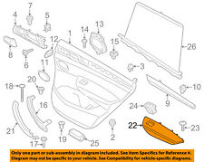 BMW OEM 11-17 X3 Interior-Rear Door-Armrest Left 51417258797