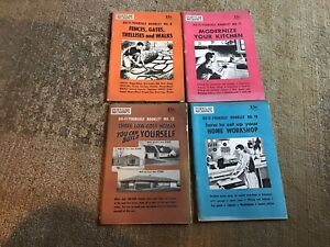 (4) 1954 Popular Mechanics Do-It-Yourself Booklets