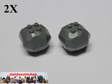 2X Lego® 30293 30294 Felsblock Steine Rock Boulder 4X4X3 neues Dunkelgrau NEU