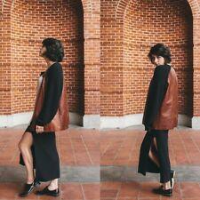 Rachel Comey Rockaway Jacket Coat Tooled Leather Knit Sleeve Sz Medium Large M/L