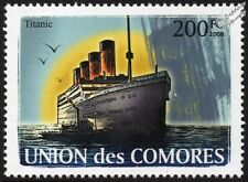 RMS TITANIC White Star Line Ocean Liner Cruise Ship Stamp (2008 Comoros)