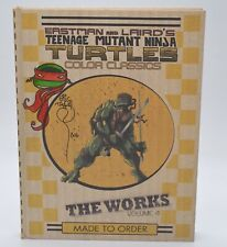 Signed/Sketch TMNT The Works Volume 4 by Eric Talbot Color Classics Rare IDW
