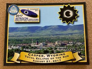 Aug 2017 Total Solar Eclipse Casper, WY US Postcard
