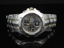 Seiko SNA548 Coutura Chronograph Stainless Steel Two Tone Alarm Men's Watch