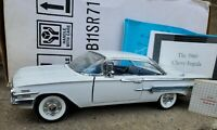 Franklin Mint 1960 Chevy Impala 1:24 Scale Diecast Model Car White B11SR71