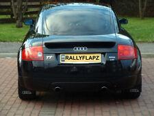 rallyflapZ Audi TT MK1 Bespoke Mud Flaps Mudflaps Black Ring Logo Silver 4mm PVC