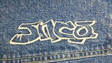 jnco road dog wide leg blue jean shorts 38w rare vintage 90s MADE IN THE USA!