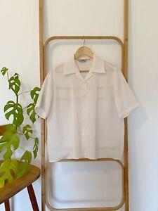 Vintage TARGET white short sleeve collared blouse size 12