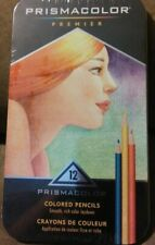 Prismacolor Premier Colored Pencils 12 Count in Metal Case NEW! FREE SHIPPING!