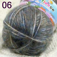 Sale New 1BallsX50g Fluffy Soft Cotton Warm Wrap Shawl Hand Knit Crochet Yarn 06