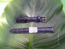BRACELET MONTRE CUIR VÉRITABLE vachette //  MARQUE COBRA / noir /14mm/RE.TV57