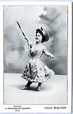 Vintage Circus Sideshow Freak - Real Photo Postcard - Lilli Walton Midget RPPC