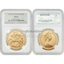 Isle of Man 1976A 5 Pounds Gold NGC MS69