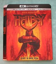 HELLBOY, HUNTER KILLER, THE HURRICANE HEIST 4K Blu ray slipcover
