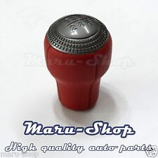 Red Leather 5-Speed MT Gear Shift Knob Lever for 03~08 Hyundai Tiburon/Coupe