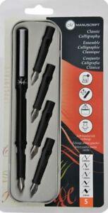 Manuscript Classic Calligraphy Fountain Pen Set | 5 Nibs | Gift Tin | MC1185
