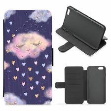 Hearts Clouds Purple Rain Card Slots Phone Case (iPhone,Samsung,Google Pixel)