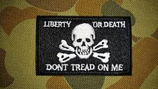 NEW LIBERTY OR DEATH DONT TREAD ON ME WHITE TACTICAL HOOK PATCH AUSTRALIA SELLER
