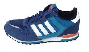 Adidas kids ZX 700 Trainers M25133 Navy/turq/Orange Lace up UK 3.5-6 Kids