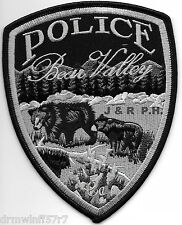 """Bear Valley - 2 Bears  Subdued, CA (4"""" x 5"""") shoulder police patch (fire)"""