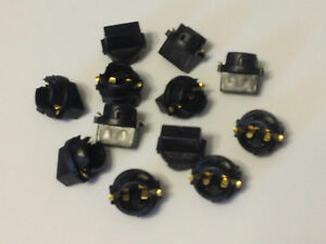 12x For Mazda 194 Instrument Panel Cluster Light Bulb Dashboard Sockets Plug NOS