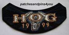 Harley Davidson HOG Harley Owners Group 1999 Patch New! FREE U.K. POSTAGE!
