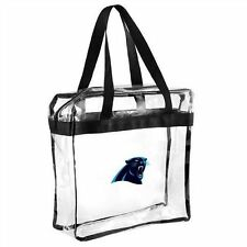 Carolina Panthers Clear Reusable STRAP TOTE ZIPPER Bag PACK NFL STADIUM approved