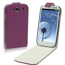 Samsung Galaxy S3 i9300 Kunst-Leder Flip Case Etui Tasche echt lila