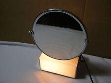 Vintage Mid Century Modern Lighted Swivel Vanity Mirror w/ Chrome