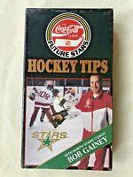 Vintage Coca Cola Classic MN NORTH STARS Coach Bob Gainey Hockey Tips VHS tape