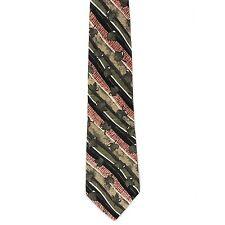"""Je Suis Men's Silk Floral Neck Tie Pink /Autumn Leaf Classic 4"""" x 58"""""""
