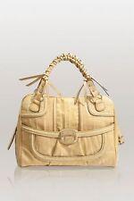 Guess Edna Satchel Handbag Bag Purse Beige Yellow 4-G Logo Vintage Ostrich New