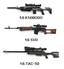 """Set of 3 pcs 1/6 Scale K14MODO SVD TAC-50 for 12"""" Action Figure"""