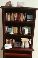dolls house miniature books, vintage style job lot of 22 books 1:12th