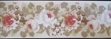 Laura Ashley Home ELSPETH Floral Wallpaper Border 32 ft Brick Multi Natural NIP