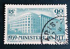 France N° 424 90+ 35 C Bleu Vert Obli TTB Qualité  Côté 22,50