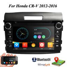 For Honda CRV 2012 2013 2014 2015 Car Stereo GPS Navi Radio DVD Player BT Mirror