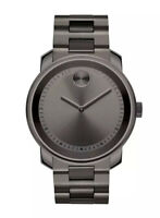 Brand New Movado Men's Bold 43mm Gray Ion-Plated Stainless Steel Watch 3600259