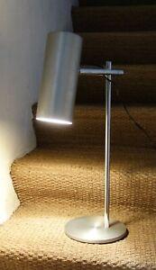 LAMPE ALUMINIUM BROSSE DESIGN VINTAGE 1970 DESK LAMP 70's STYLE PERGAY LAMPARA