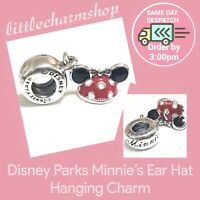 New Authentic Genuine PANDORA Disney Parks Minnie Ear Hat Dangle Charm - RETIRED