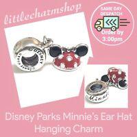 New Authentic Genuine PANDORA Disney Parks Minnie Ear Hat Dangle Charm - RETIRED