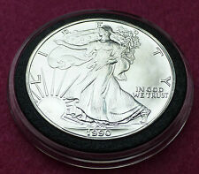 1990 Águila de Plata $1 Un Dollar Moneda-Hermosa Moneda Encapsulada