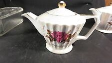 Vintage Trimont Ware Made in Japan  Luster Teapot Roses