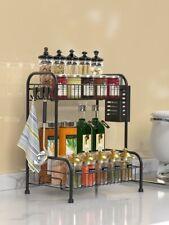 2 Tier Gewürzregale Küchenregal Spice Rack Organizer für Küche Badezimmerschrank